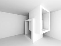 Fond abstrait blanc géométrique d'architecture illustration stock
