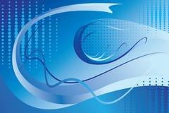 Fond abstrait bleu Images libres de droits