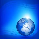 Fond abstrait bleu Photo libre de droits