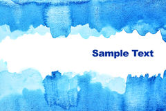 Fond abstrait bleu d'aquarelle Images libres de droits