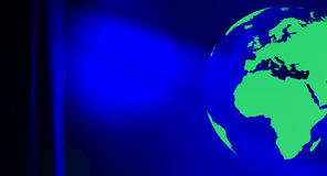 Fond abstrait bleu d'eco de globe vert du monde Photo stock