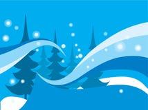 Fond abstrait bleu de l'hiver Images libres de droits
