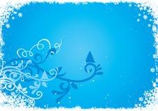 Fond abstrait bleu de l'hiver illustration stock