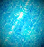 Fond abstrait bleu de mosaïque. Photos libres de droits