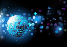 Fond abstrait bleu de réception Image stock
