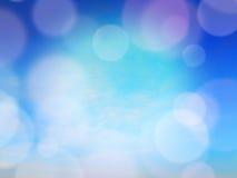 Fond abstrait bleu de tache floue, l'espace libre pour le texte Photo stock