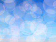 Fond abstrait bleu de tache floue, l'espace libre pour le texte Images libres de droits