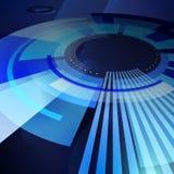 Fond abstrait bleu de technologie Image libre de droits