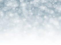 Fond abstrait bleu de vacances de Noël d'hiver de neige Image libre de droits