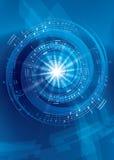 Fond abstrait bleu de vecteur de musique - aviateur Image libre de droits