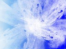 Fond abstrait bleu et blanc Photographie stock