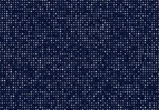 Fond abstrait bleu-foncé avec les cercles légers Élément géométrique de graphique de technologie de mosaïque Photos libres de droits