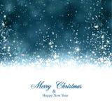 Fond abstrait bleu-foncé de Noël. illustration de vecteur