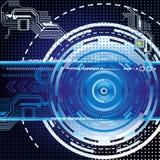 Fond abstrait bleu-foncé de technologie illustration de vecteur