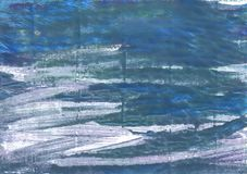 Fond abstrait bleu métallique d'aquarelle Image stock