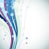 Fond abstrait bleu ondulé Images stock