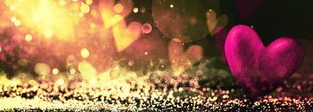 Fond abstrait brillant de Bokeh Fond de Valentines image stock
