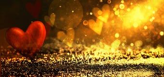 Fond abstrait brillant de Bokeh Fond de Valentines photo libre de droits