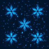 Fond abstrait brillant de flocons de neige Image stock