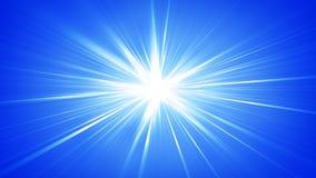 Fond abstrait brillant de rayons bleus illustration stock