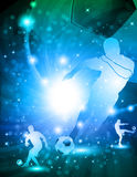 Fond abstrait brillant du football Photographie stock