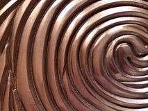 Fond abstrait brouillé Beaucoup de demi-cercle brun brillant images stock