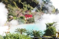 Fond abstrait brouillé de source thermale au Japon photographie stock libre de droits