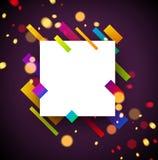Fond abstrait carré coloré sur le pourpre illustration de vecteur