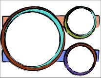 Fond abstrait - cercles colorés Images libres de droits