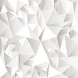 Fond abstrait chiffonné blanc Photos libres de droits
