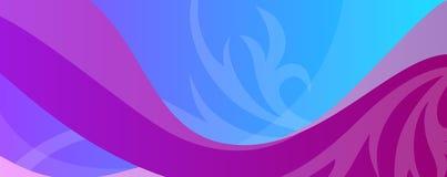 Fond abstrait coloré avec des vagues et des ornements pour le site Web, les bannières ou l'identité illustration libre de droits