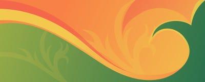 Fond abstrait coloré avec des vagues et des ornements pour le site Web, les bannières ou l'identité illustration stock