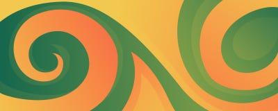 Fond abstrait coloré avec des vagues et des ornements pour le site Web, les bannières ou l'identité illustration de vecteur