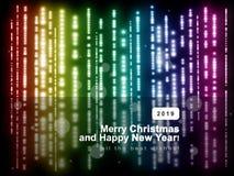 Fond abstrait coloré 2019, couleurs d'arc-en-ciel, ver de Noël image stock