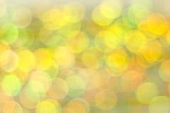 Fond abstrait coloré de bokeh Lumières de cercle d'étain brouillé Image stock
