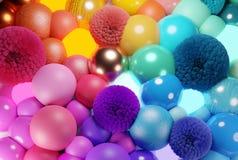 Fond abstrait color? de boules photos libres de droits