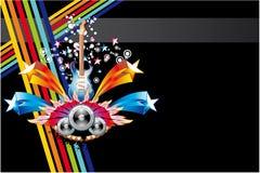 Fond abstrait coloré de musique illustration stock