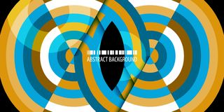 Fond abstrait coloré géométrique avec les bandes concentriques illustration de vecteur