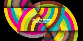 Fond abstrait coloré géométrique avec les bandes concentriques illustration stock