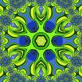 Fond abstrait coloré La fleur verte illustration libre de droits