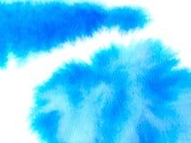 Fond abstrait color? de vecteur Tache bleue molle d'aquarelle Peinture d'aquarelle illustration libre de droits