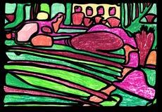 Fond abstrait color? illustration stock