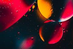 Fond abstrait cosmique d'univers de l'espace ou de planètes Sctructure abstrait de molécule Bulles de l'eau Macro tir d'air ou de Photos stock