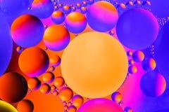 Fond abstrait cosmique d'univers de l'espace ou de planètes Sctructure abstrait de molécule Bulles de l'eau Macro tir d'air ou de Image stock