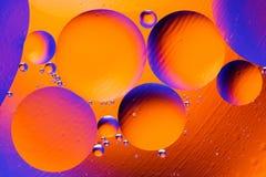 Fond abstrait cosmique d'univers de l'espace ou de planètes Sctructure abstrait de molécule Bulles de l'eau Macro tir d'air ou de Images stock