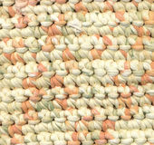 Fond abstrait - couverture de chiffon de crochet Photos stock