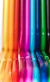 Fond abstrait créé par les pailles colorées Photos stock