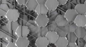 Fond abstrait créatif d'aluminium de forme photographie stock libre de droits