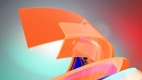 Fond abstrait Curvy illustration 3D illustration libre de droits