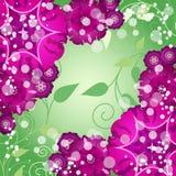 Fond abstrait décoratif créatif floral avec le papillon Image libre de droits